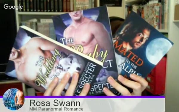 Screenshot of Rosa Swann's latest paperbacks